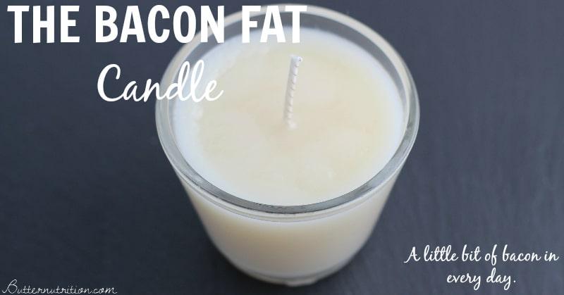 Homemade bacon fat candles