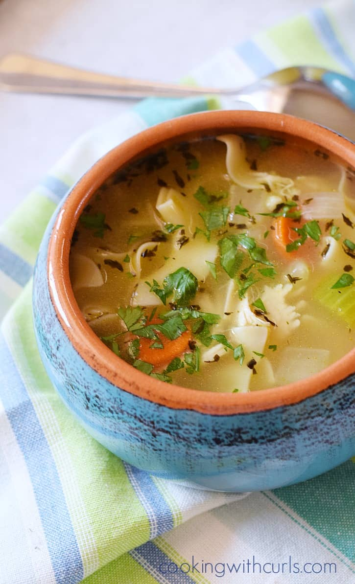 Homemade chicken noodle soup 15 Homemade Fall Comfort Foods That Taste and Look Amazing