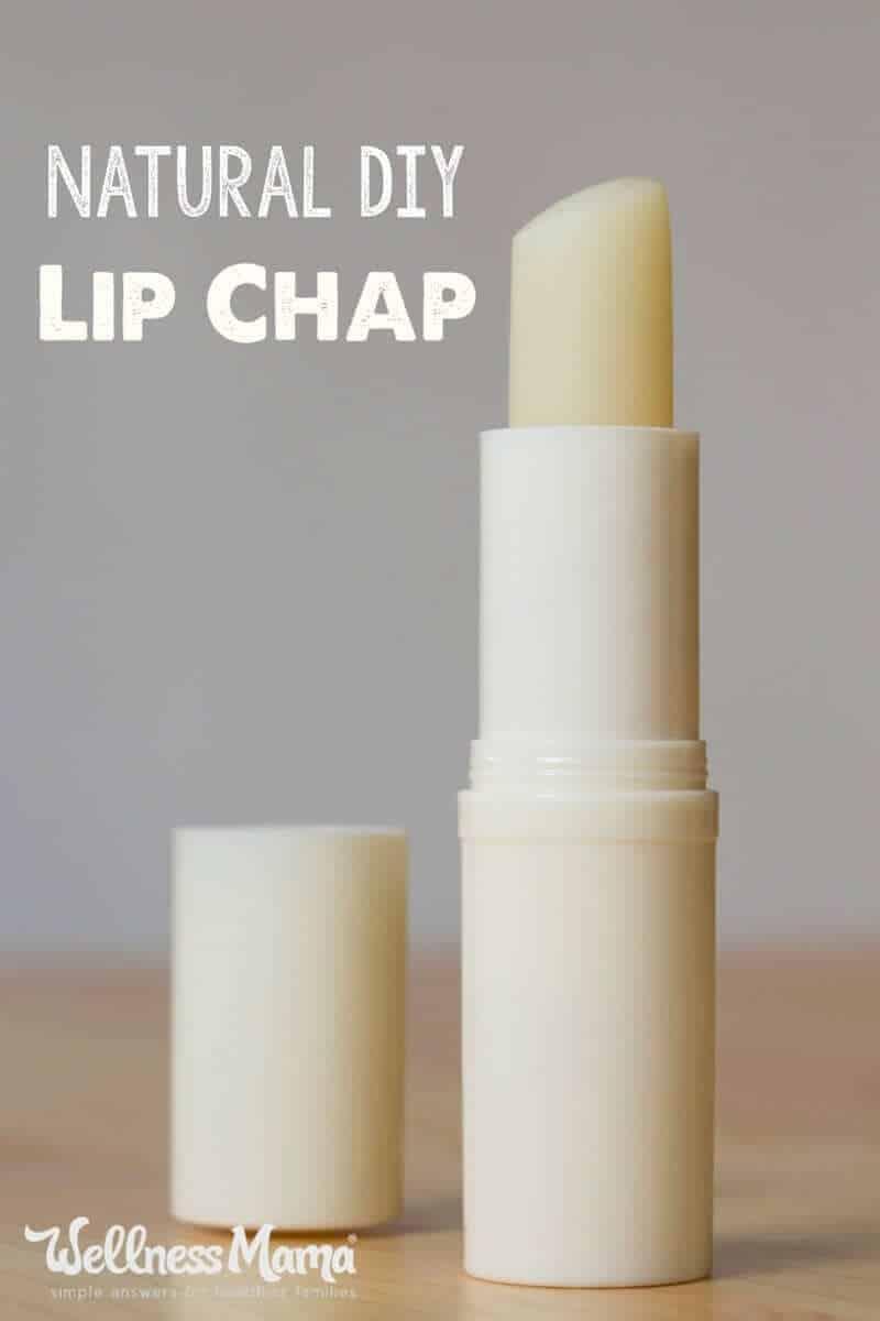 Homemade natural lip chap