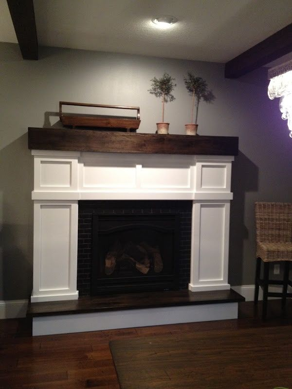 How to make a realistic faux fireplace and surround