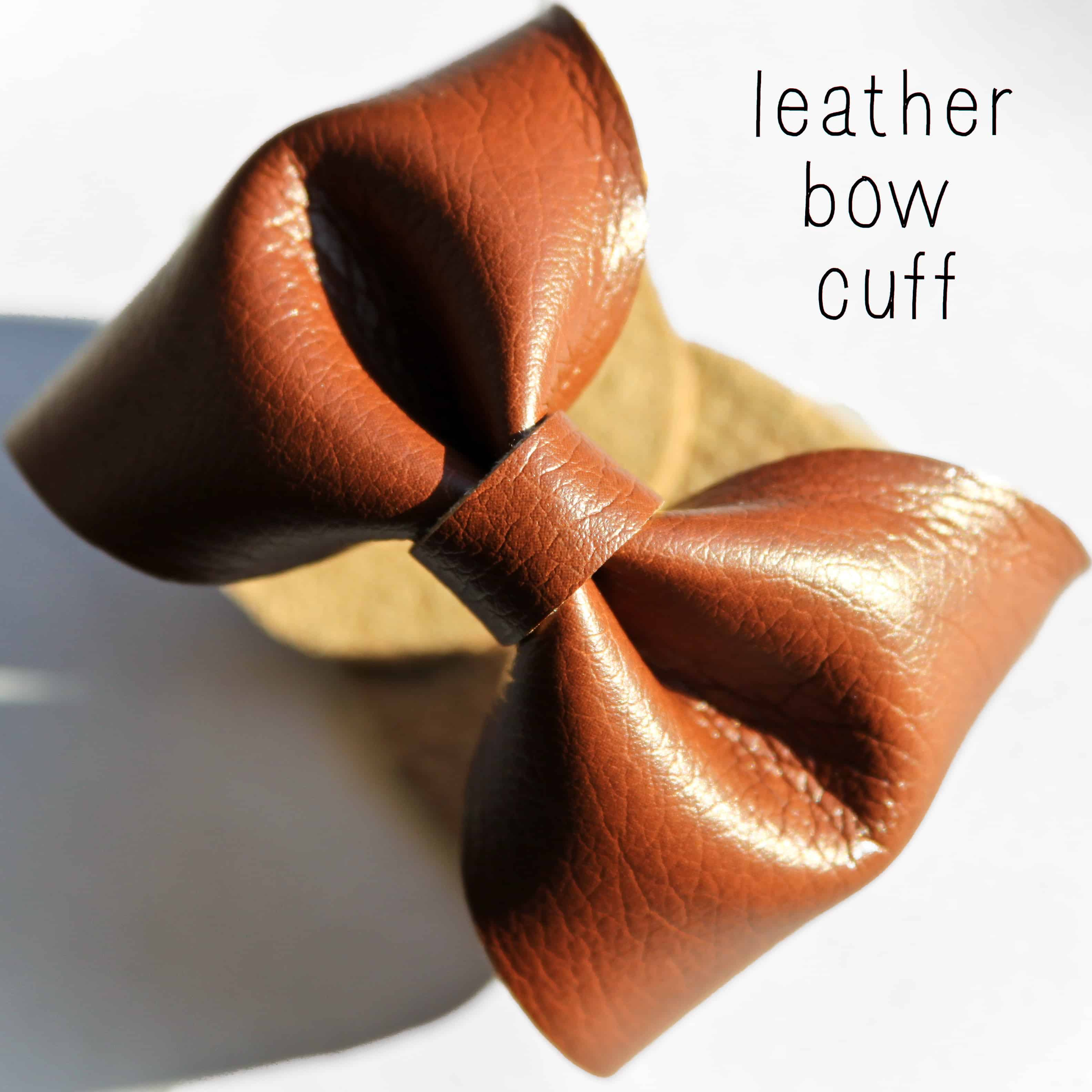 Leather bow cuff