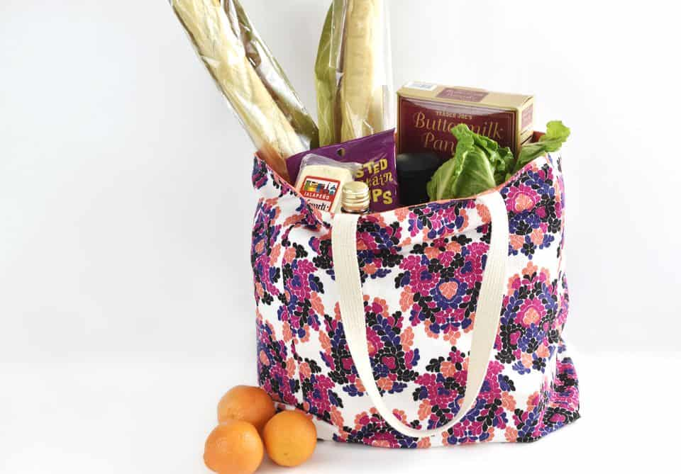 Lined, durable, and reusable grocery bag