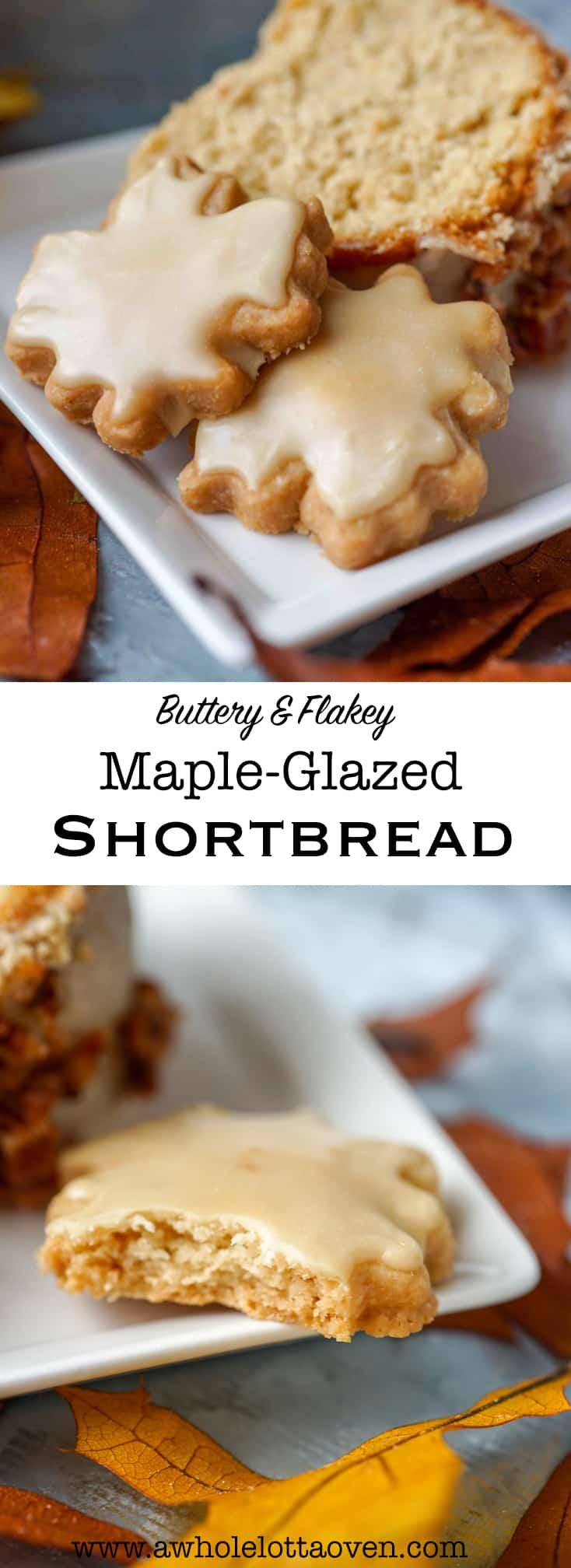 Maple glazed shortbread