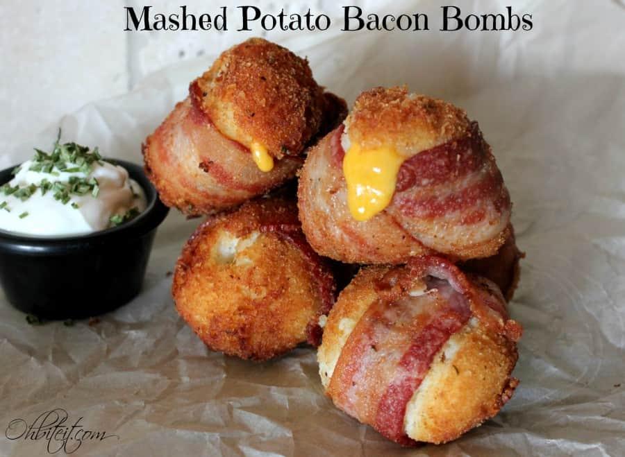 Mashed potato bacon bombs 15 Homemade Football Party Menus