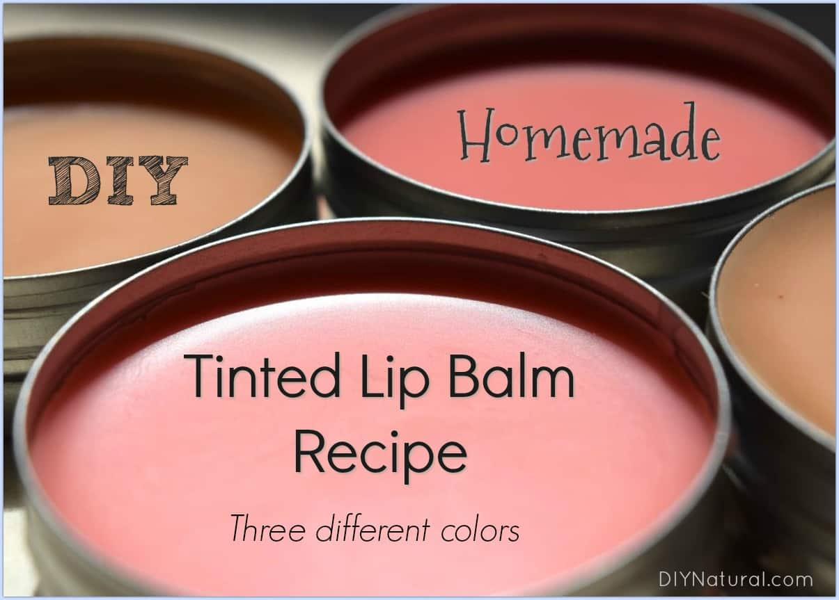 Neutrally coloured tinted homemade lip balm