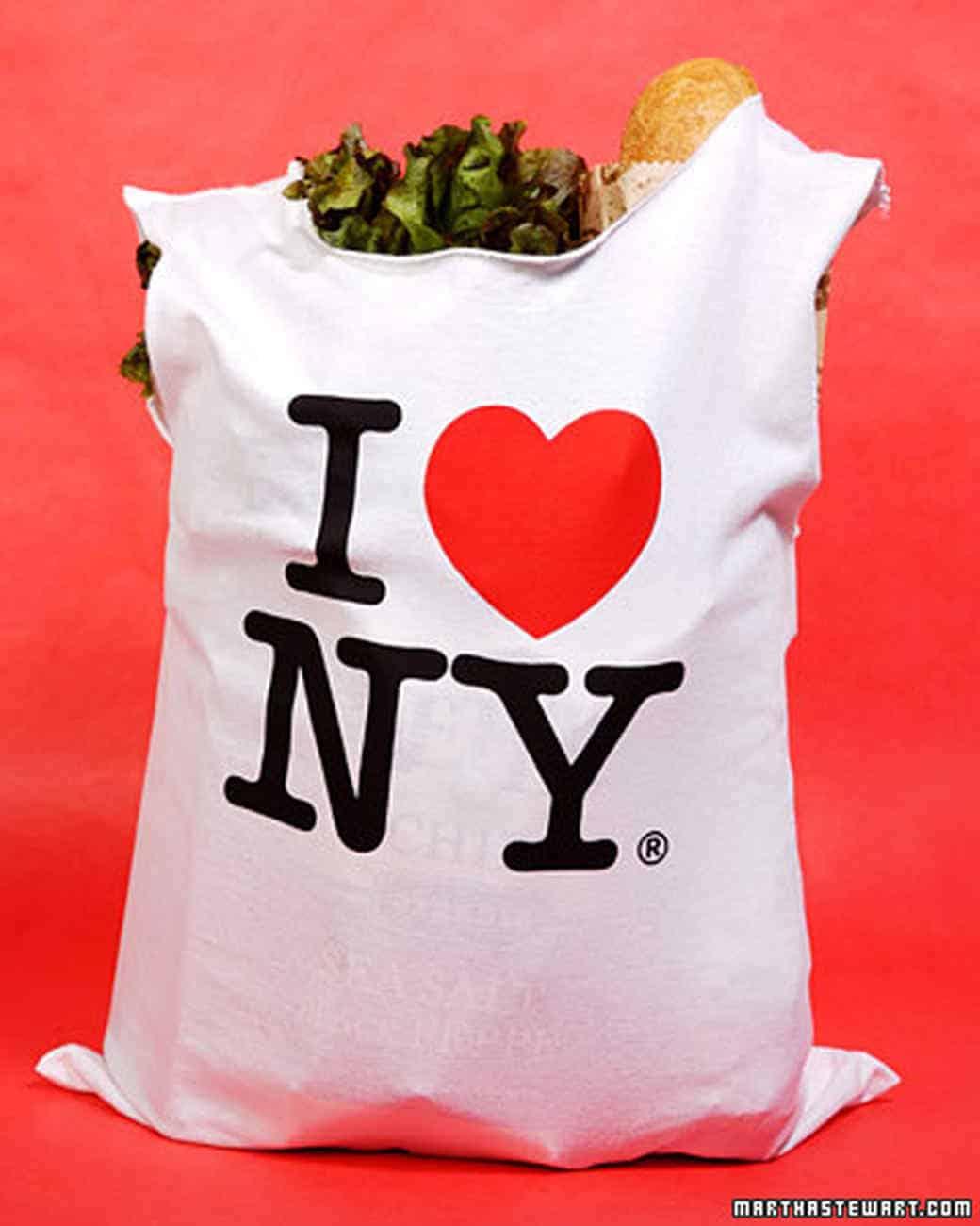 Old t-shirt shopping bag