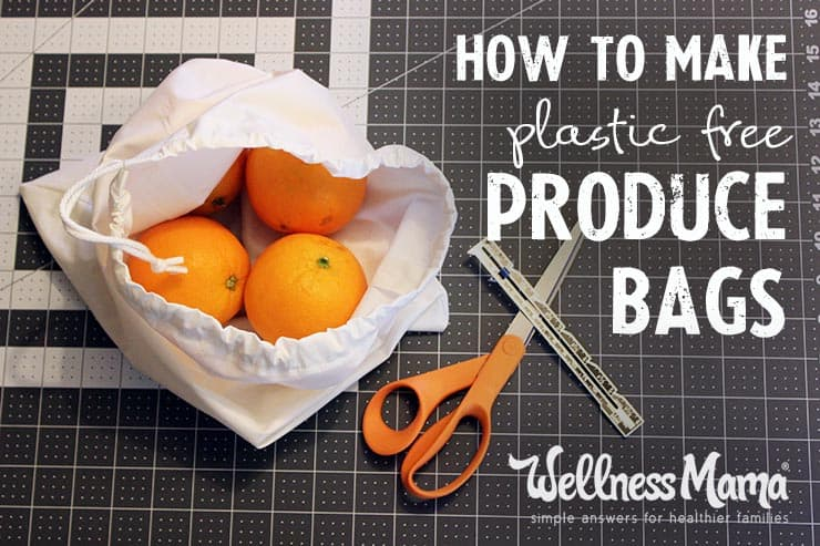 Plastic-free drawstring produce bags