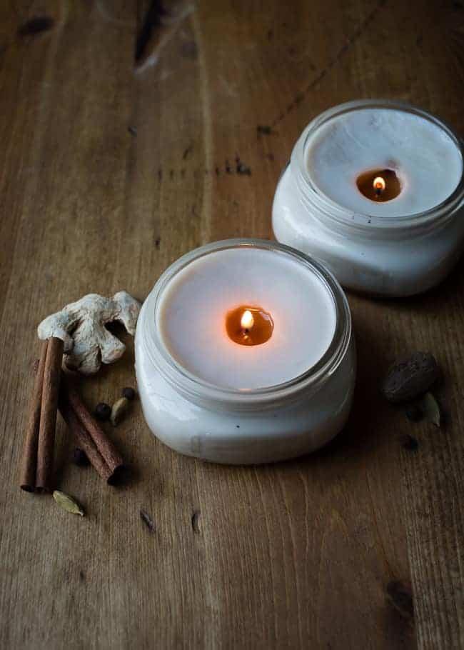 Pretty fall Chai candles