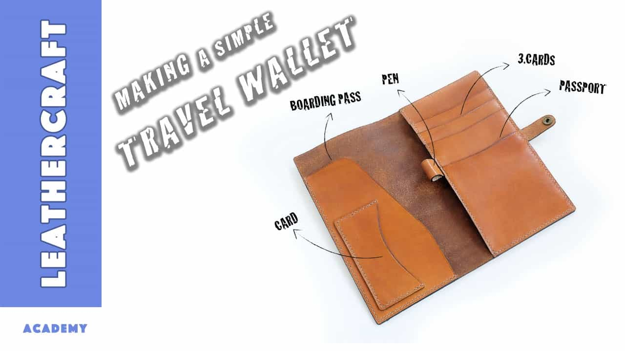 Simple DIY leather travel wallet