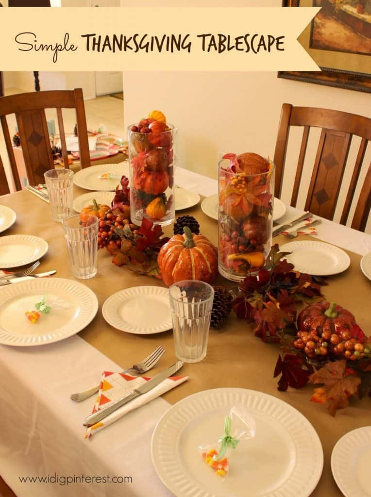 Simple and frugal tablescape