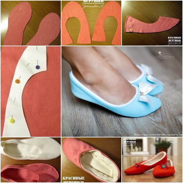 Super soft fabric ballet style slippers