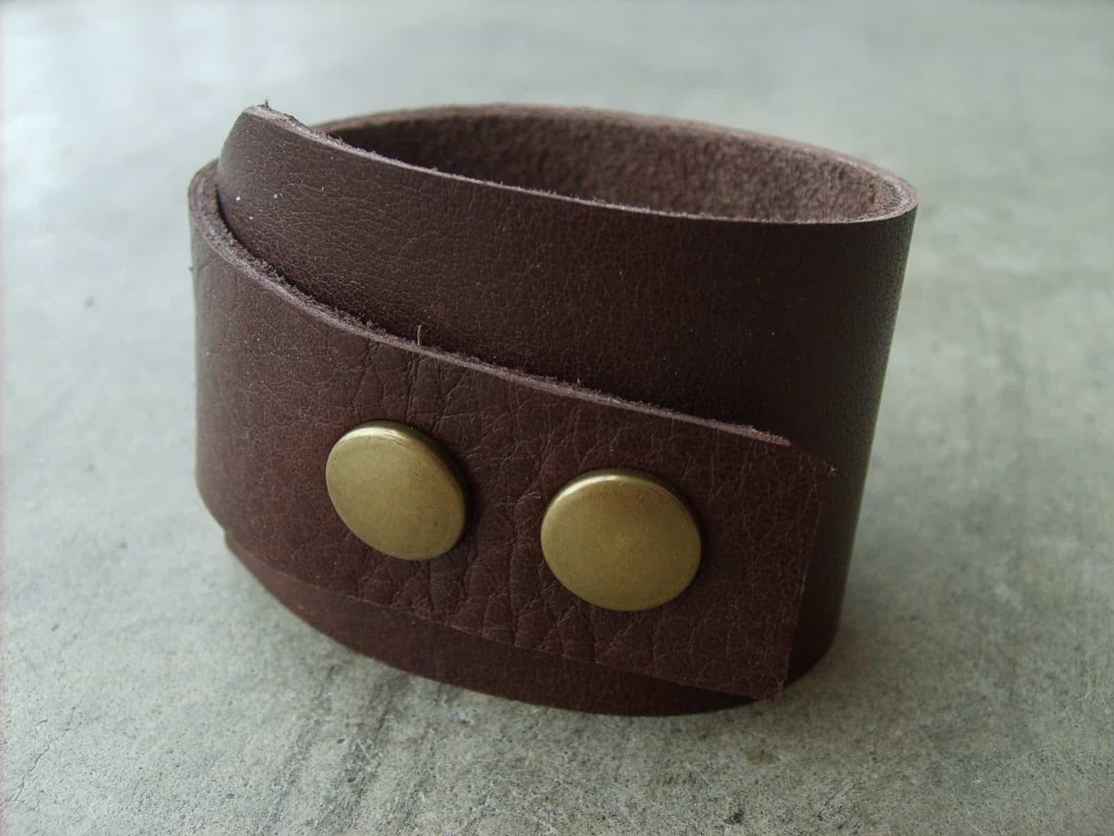 Trendy leather cuff