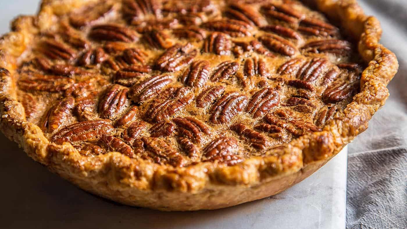 Unique coffee chocolate cinnamon pecan pie