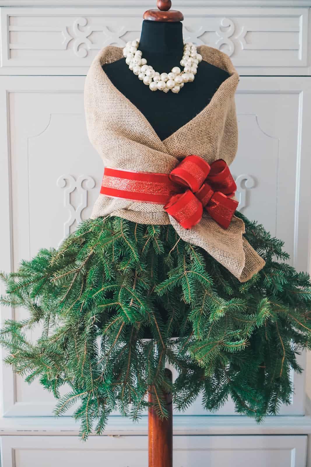 DIY Mannequin Christmas Tree
