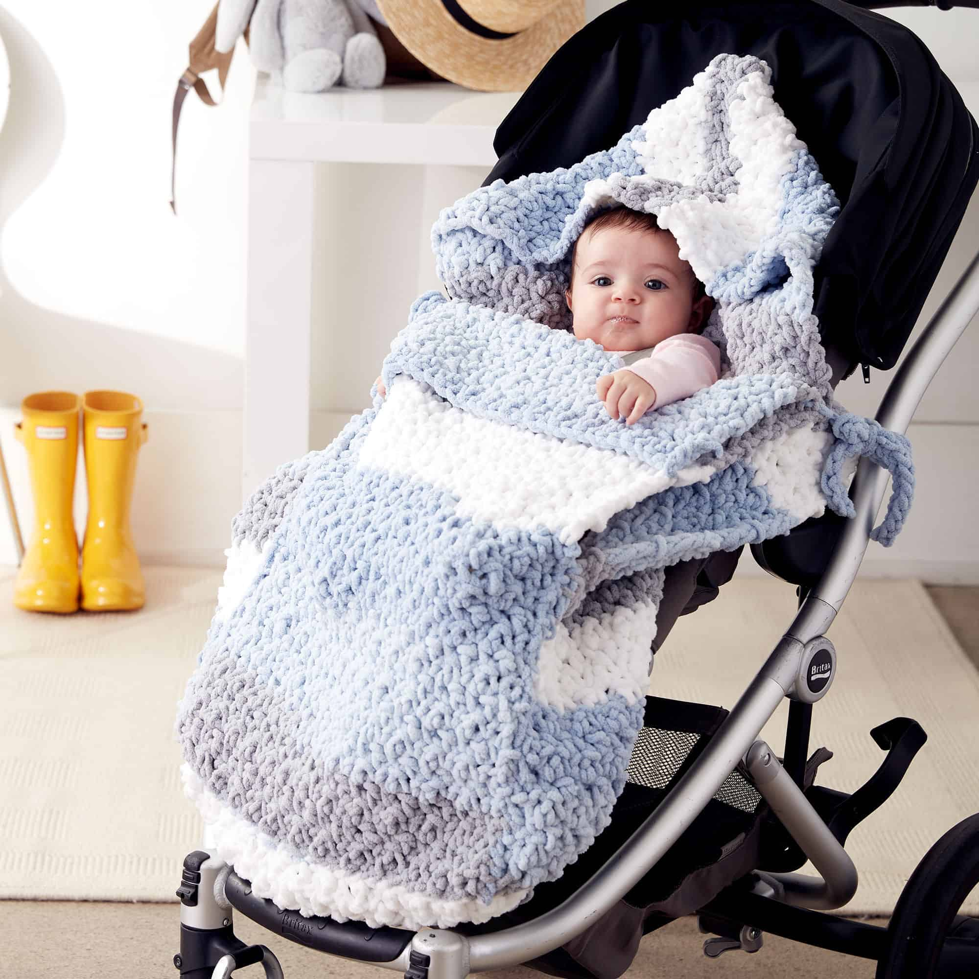 Chunky blanket stroller cozy kit