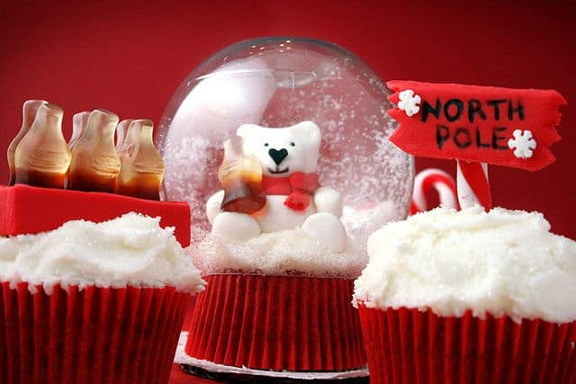 Coca Cola Christmas ad inspired snow globes