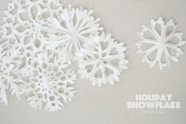 Coffee filter cutout snowflakes