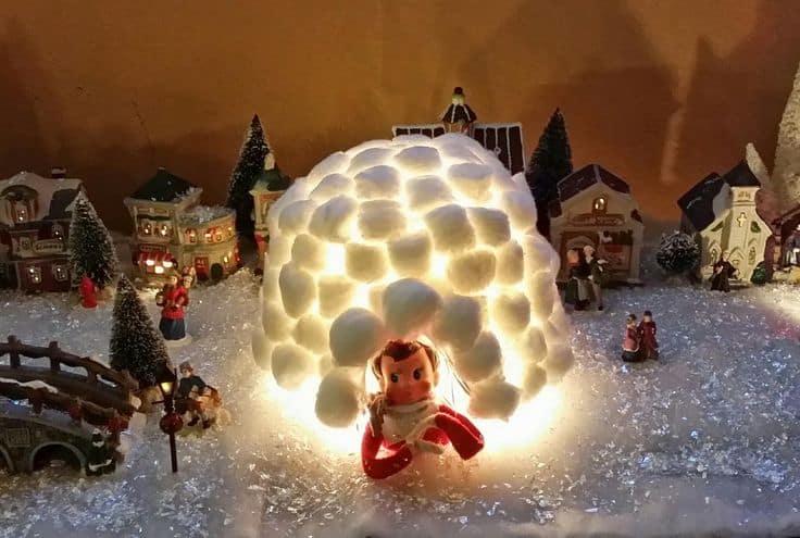 Cotton ball igloo