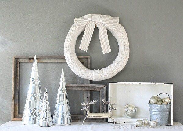 Cozy winter sweater wreath