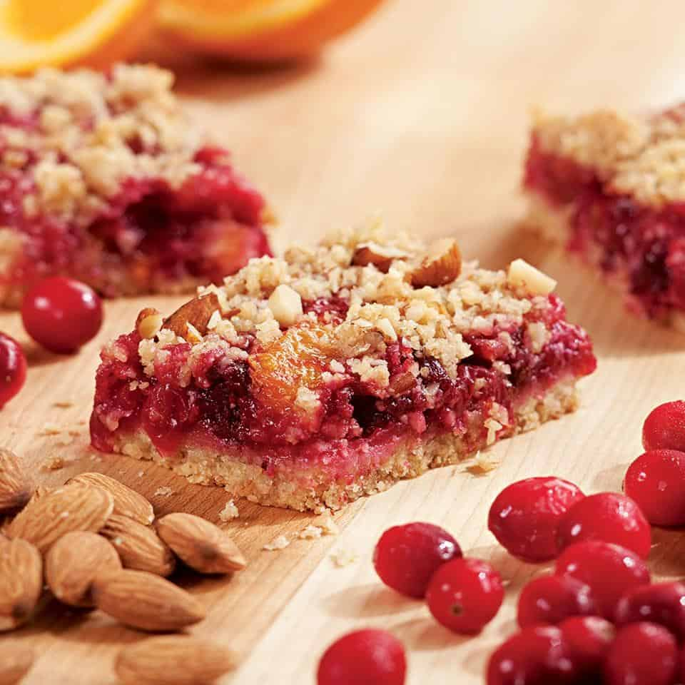 Cranberry orange fruit bars