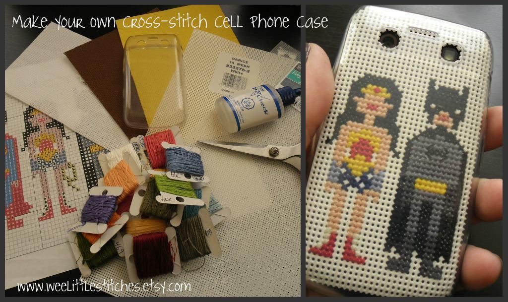 Custom cross stitch phone case