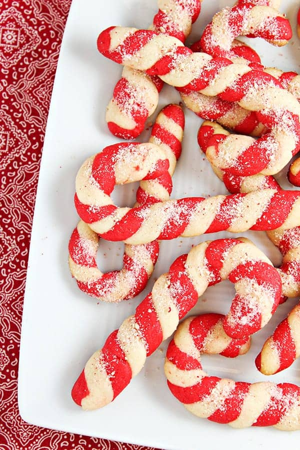 Cute candy cane cookies