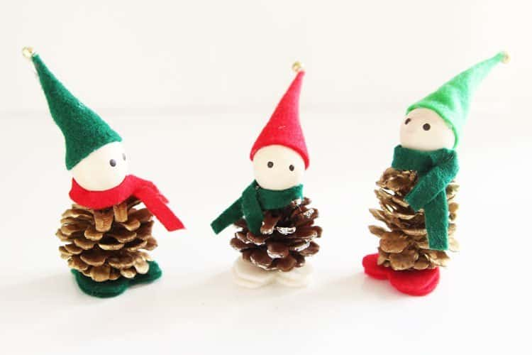 Cute pinecone elves 15 Best Elf Themed Crafts for Kids