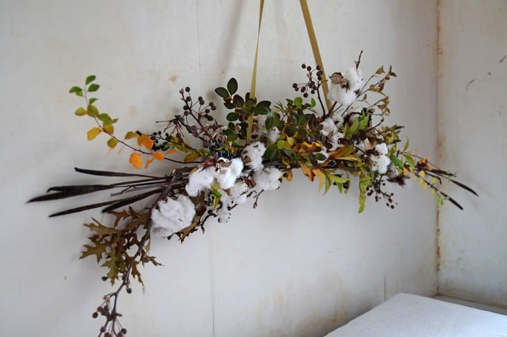 DIY cotton holiday bough