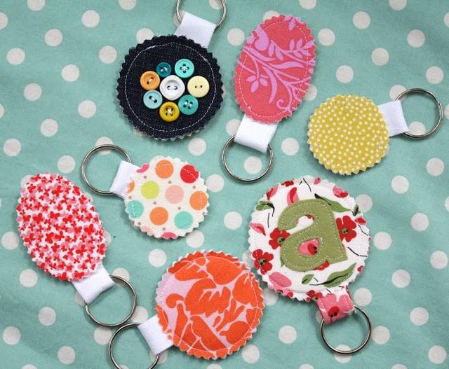 DIY fabric keychains