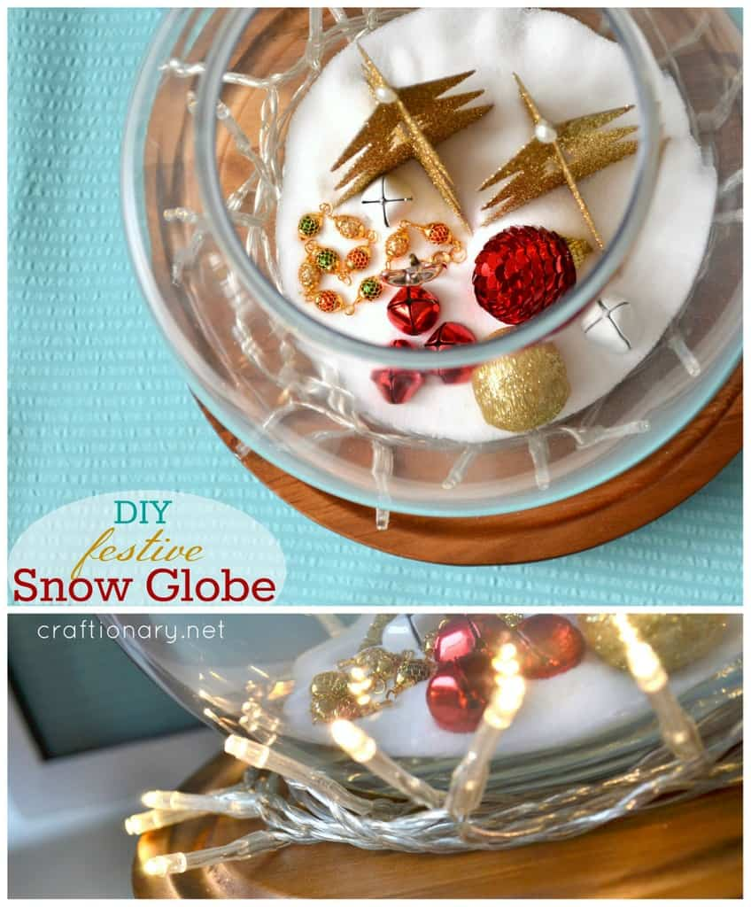 DIY fish bowl snow globe