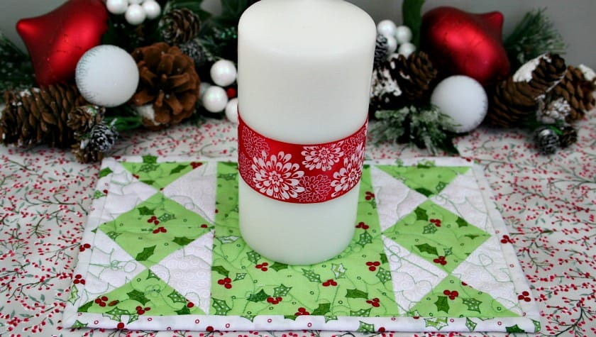 DIY quilted candle mat (with included candle)