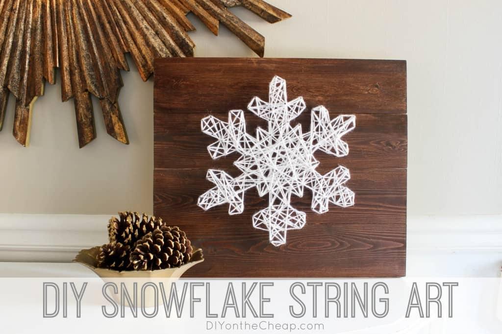 DIY snowflake string art 15 Best DIY Snowflake Crafts