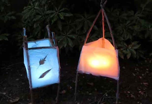 DIY winter solstice lanterns