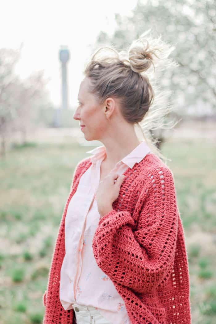 Day Date crochet hexagon sweater