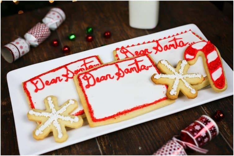 Dear Santa butter cookies