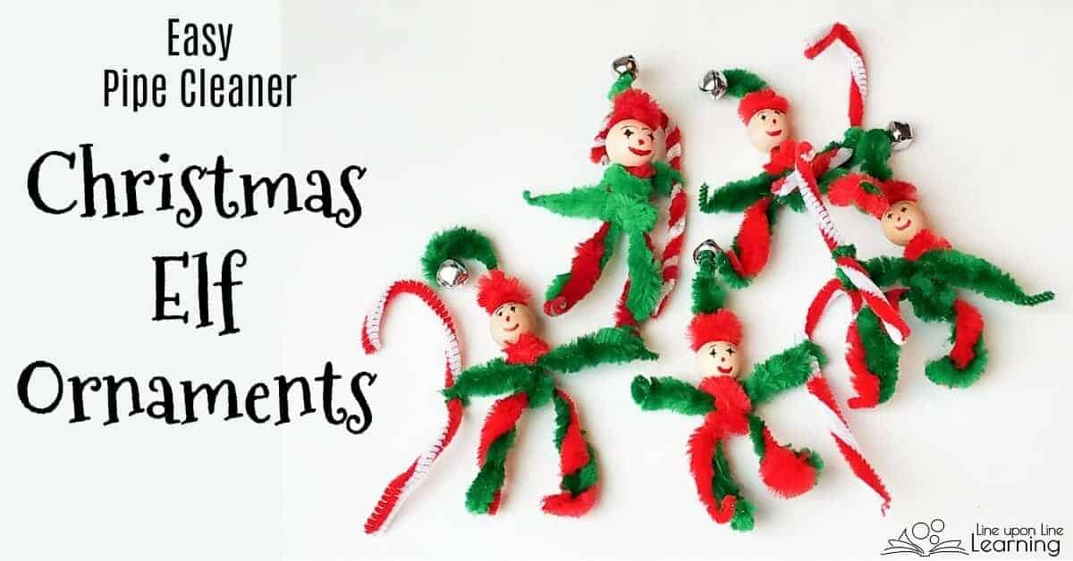 Easier, kid-friendly pipe cleaner elves