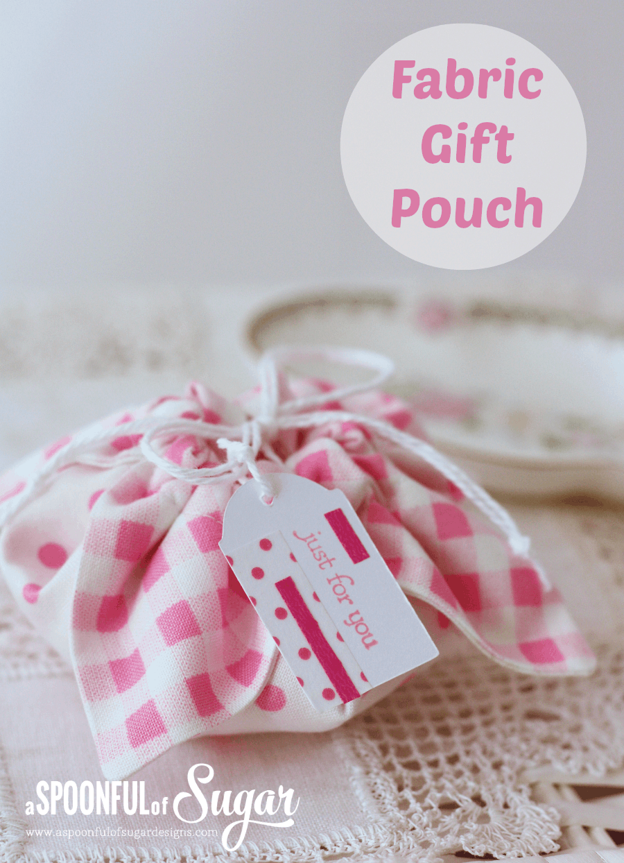 Easy and pretty fabric gift pouch