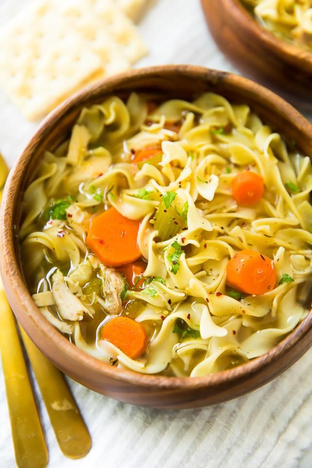 Easy, heartwarming chicken noodle soup