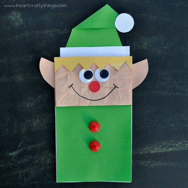 Easy paper bag elf