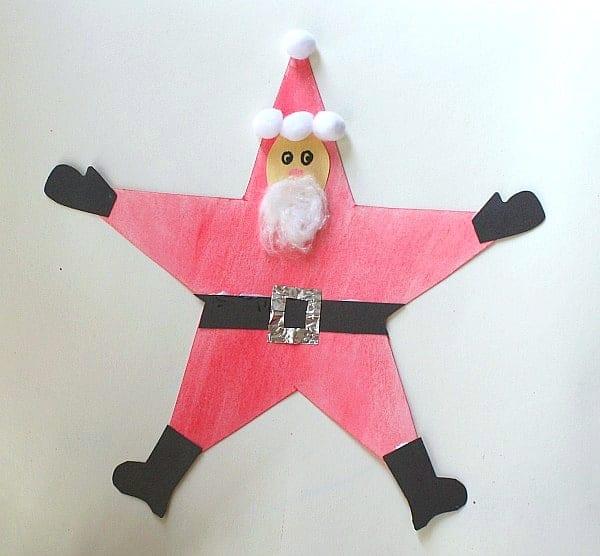 Easy paper star Santa