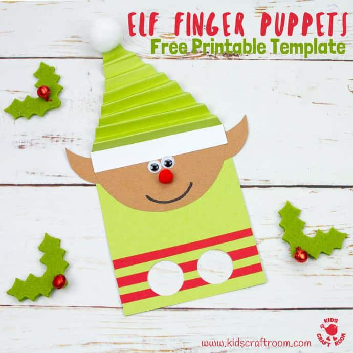 Elf finger puppets with free template