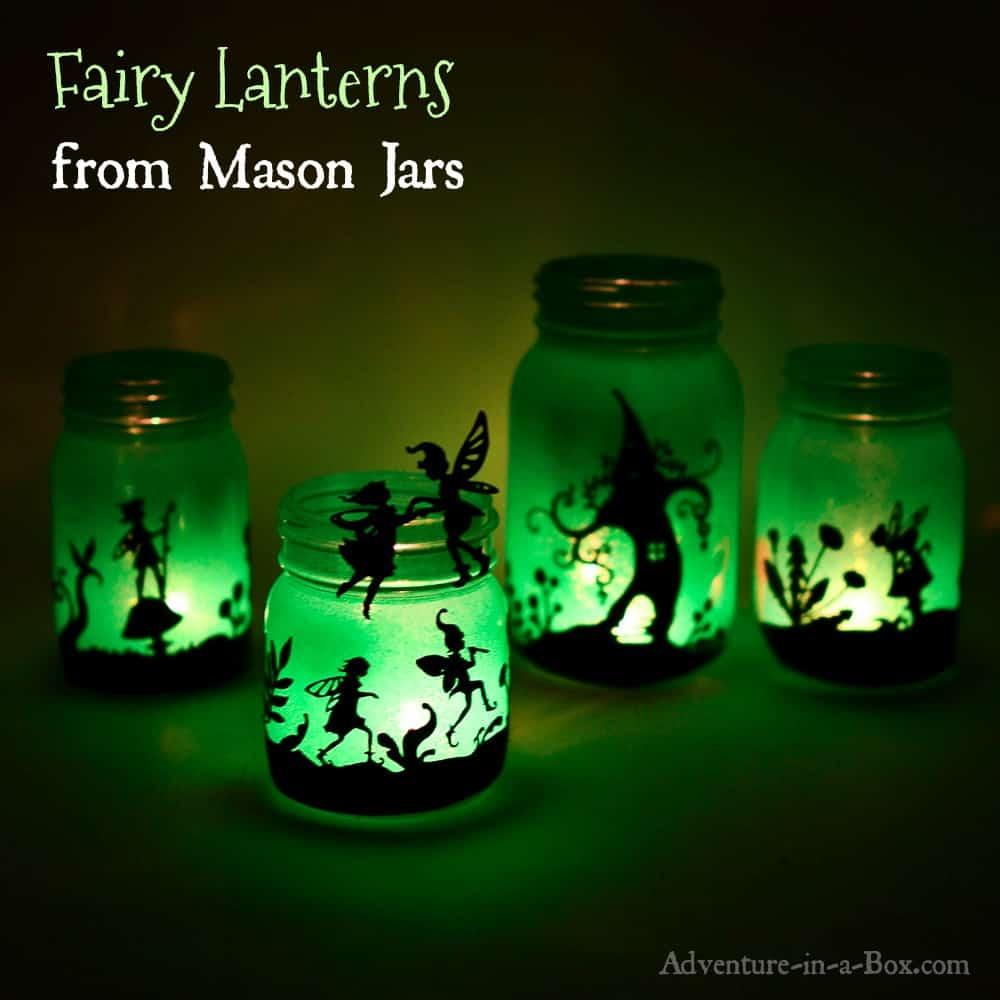 Fairy silhouette lanterns