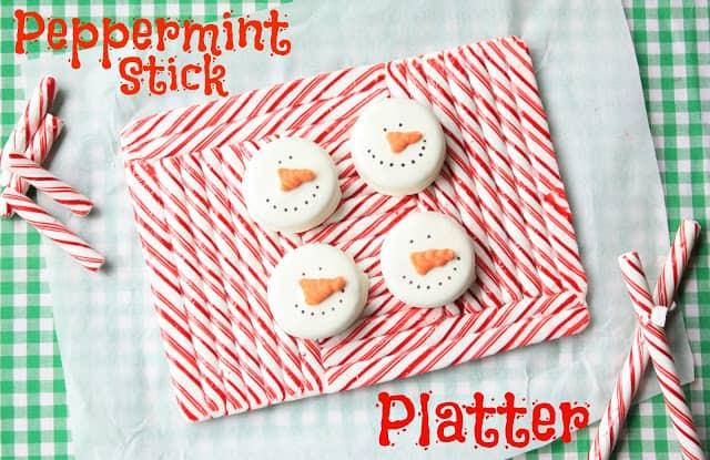 Fun peppermint stick platter