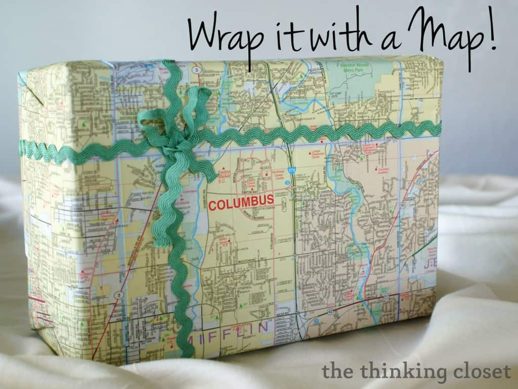 Gift wrap from an old map 15 Best Homemade Gift Wrapping Ideas   For All Occasions