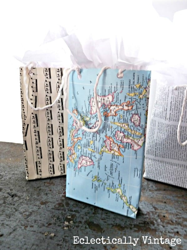 How to make gift bags from any kind of paper