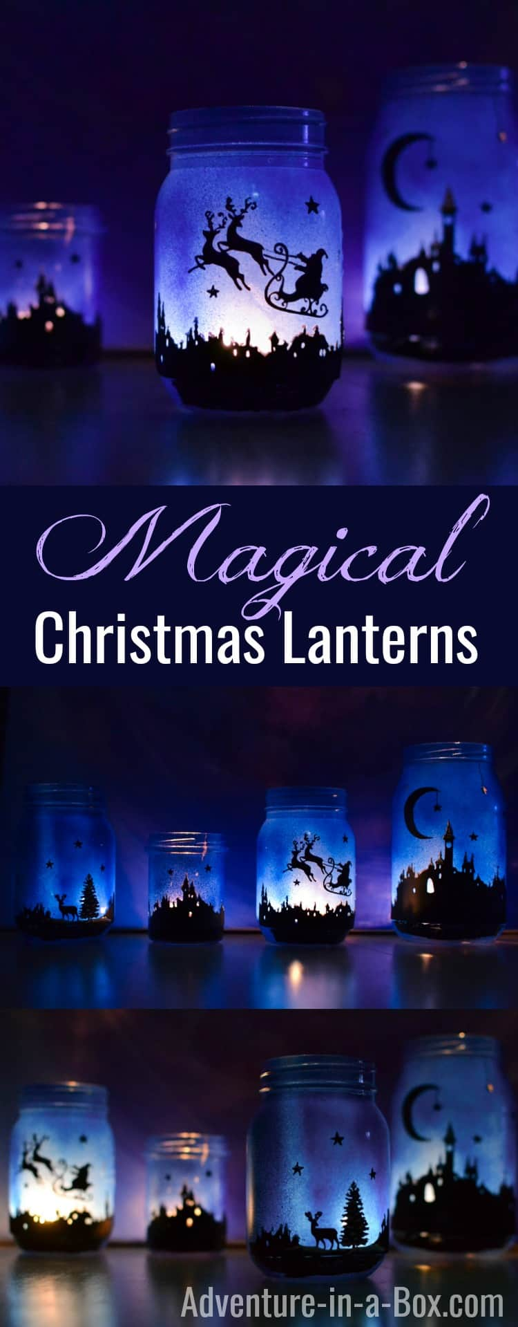 Magical Christmas silhouette lanterns