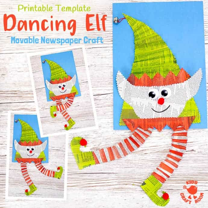 Newspaper dancing elf 15 Best Elf Themed Crafts for Kids