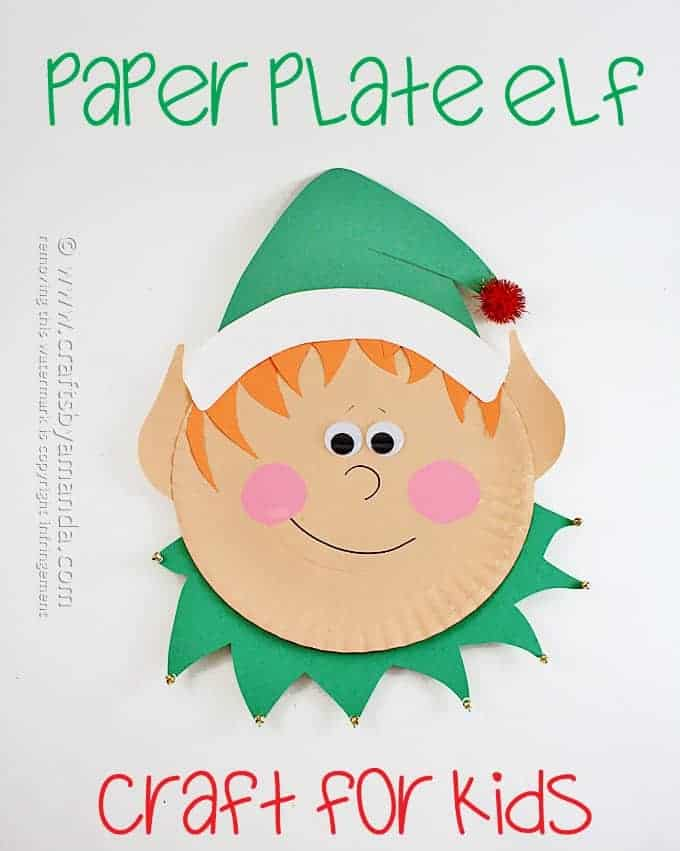 Paper plate elf
