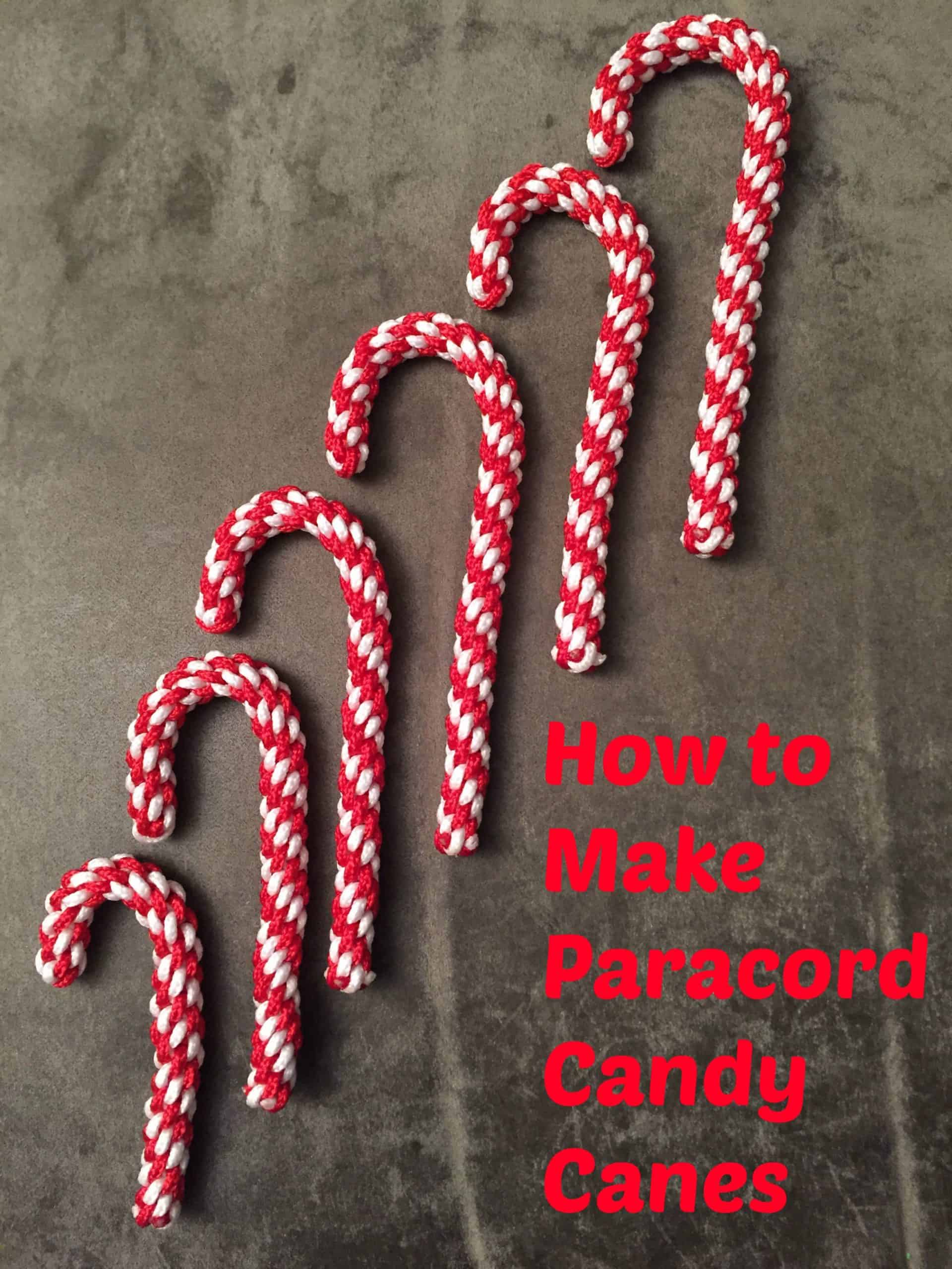 Parachute cord candy cane Christmas ornaments