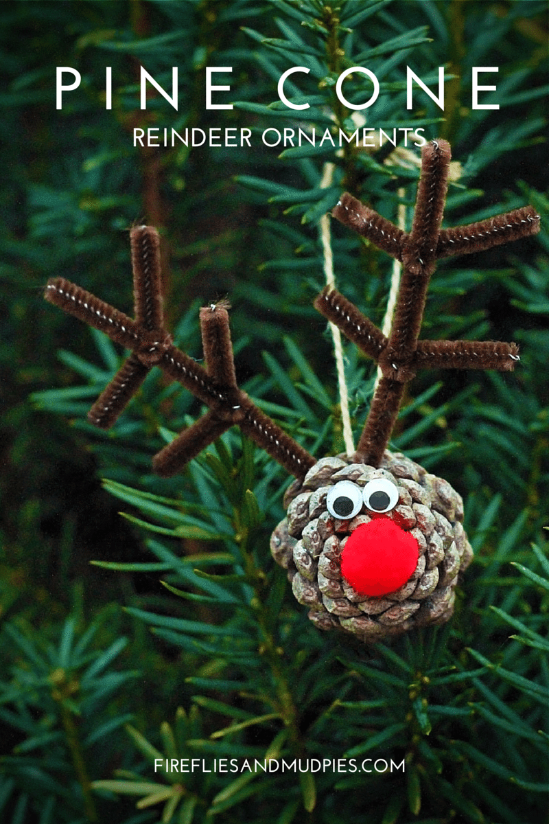Pineone reineer ornaments 15 Best Reindeer Crafts for Kids